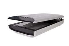Flatbed scanner isolated on white Stock Image