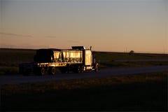 Flatbed Sunset Sanitized stock photography