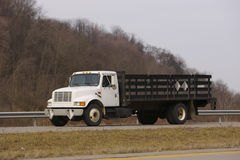 Flatbed Truck Stock Photo