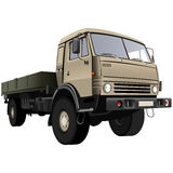 Flatbed truck Royalty Free Stock Photos