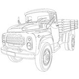 Flatbed truck Royalty Free Stock Photo