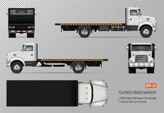 Flatbed truck vector template royalty free illustration