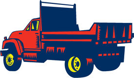 Flatbed Truck Woodcut Stock Images