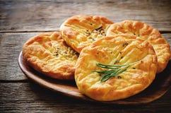 Flatbread картошки с розмариновым маслом стоковое изображение rf