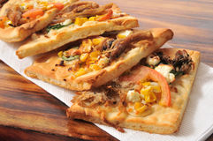 Flatbread appetizers Royalty Free Stock Images