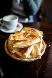 Flatbread in basket Royalty Free Stock Photos