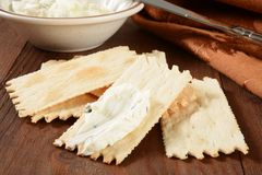 Flatbread crackers and cheese Stock Images
