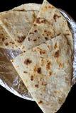 Flatbread dell'indiano di Naan dell'aglio e del formaggio Immagini Stock Libere da Diritti