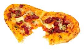 Flatbread di Pantofola della mozzarella e del peperone Fotografia Stock