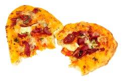 Flatbread di Pantofola della mozzarella e del peperone Fotografia Stock Libera da Diritti