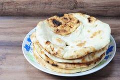 Flatbread do roti de Naan Foto de Stock