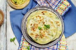 Flatbread farcito patata indiana Fotografia Stock Libera da Diritti