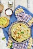 Flatbread farcito patata indiana Fotografia Stock