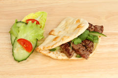 Flatbread and salad Stock Photography