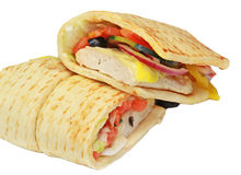 Flatbread Sandwich Stock Photography