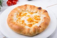 Flatbread tradizionale georgiano fotografie stock libere da diritti