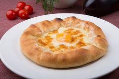 Flatbread tradizionale georgiano fotografia stock libera da diritti