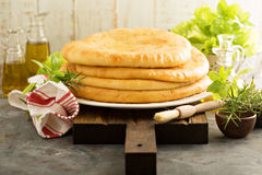 Flatbreads with cheese filling Stock Photo
