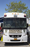 Flatbush Shomrim safety patrol mobile command center. BROOKLYN, NY - MAY 18  Flatbush Shomrim safety patrol mobile command center on May 18, 2014 in Brooklyn Royalty Free Stock Image