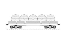 Flatcar with cable reels Royalty Free Stock Photo