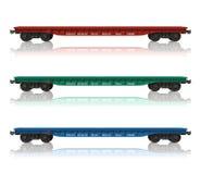 flatcars linii kolejowej set Obraz Royalty Free