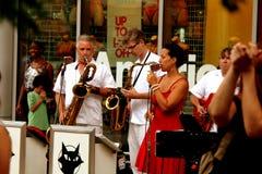 Flatcats jouant EVANSTON, l'ILLINOIS LE juillet 2012 Image stock