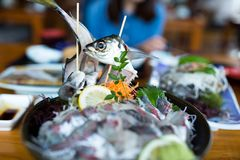 Flatfish sashimi. Beautiful sightseeing scenery landscape Royalty Free Stock Photography