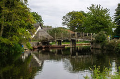 Flatford Bridge. Across the river Stour, was one of John Constable inspirations for his paintings. Suffork England Stock Photography
