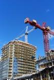 Flatgebouw in aanbouw Royalty-vrije Stock Afbeeldingen