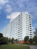 Flatgebouw met balkons Stock Foto