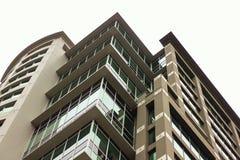 Flatgebouw met koopflats royalty-vrije stock afbeeldingen