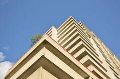 Flatgebouw met koopflatsgebouwen in Montreal Royalty-vrije Stock Fotografie