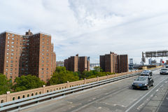 Flatgebouw met koopflatsgebouwen in New York, de V.S. Royalty-vrije Stock Afbeeldingen