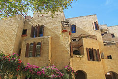 Flatgebouw in Oud Jeruzalem Royalty-vrije Stock Fotografie