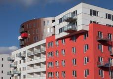 Flatgebouw, Praag Stock Afbeelding