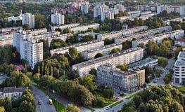 Flatgebouwen royalty-vrije stock afbeeldingen