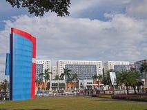 Flatgebouwen in Manilla Stock Foto's