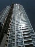 Flatgebouwen met koopflats Royalty-vrije Stock Foto's