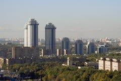 Flatgebouwen in Moskou royalty-vrije stock foto