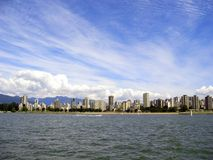 Flatgebouwen op het water royalty-vrije stock foto