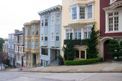 Flatgebouwen in San Francisco Royalty-vrije Stock Foto