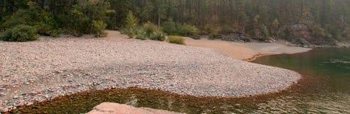 Flathead και επισημαμένος αντέξτε τους ποταμούς που συναντούν το σημείο στην περιοχή αγριοτήτων του Marshall βαριδιών κατά τη διά Στοκ φωτογραφίες με δικαίωμα ελεύθερης χρήσης