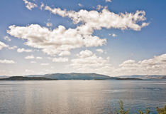 Flathead Lake, Montana stock photography