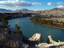 The Flathead River #1. This image of the Flathead River was taken in the Mission Valley of western MT Stock Photos