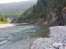 Flathead river montana. Near glacier national park Stock Images