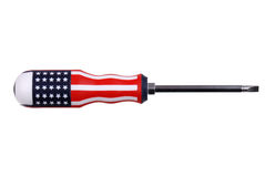 Flathead screwdriver flag on white Stock Photography