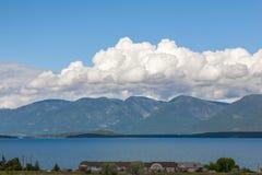Flathead sjö Arkivbild