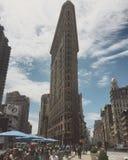 Flatiron budynek na słonecznym dniu Zdjęcie Royalty Free