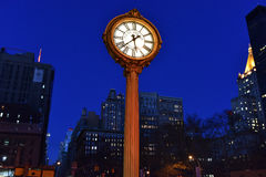 Flatiron Building and Fifth Avenue Clock Royalty Free Stock Photos