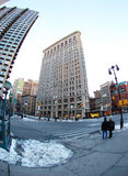 Flat Iron Building in New York City, NY USA - Fisheye Royalty Free Stock Images